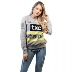 Moletom Feminino TXC Cinza Ref: 9080