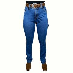 Calça Jeans Feminina Carpinteira Badana - Ref: SK-MCD-9007