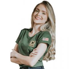Camiseta TXC Extra Feminino Verde Escuro Ref.: 4826