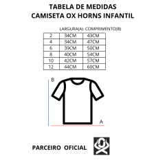 Camiseta Country Infantil Ox Horns Cinza Cacto REF 5073