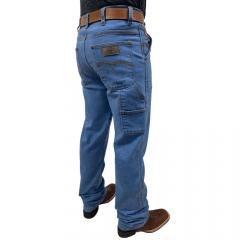 Calça Jeans Masculina Carpinteira Arena Azul Delavê