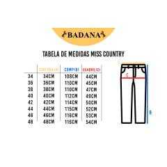 Calça Jeans Feminina Flare Miss Country Mandala Ref.00013