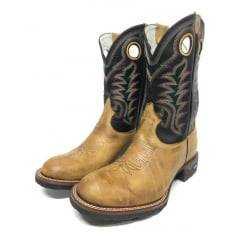 Bota Texana Masculina Rodeo Way Bico Redondo Cano Preto