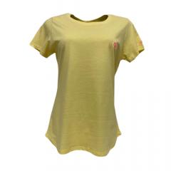 Camiseta Feminina Ox T-Shirt Básica Amarela  Ref: 8015