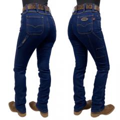 Calça Jeans Feminina Carpinteira Race Bull Stone
