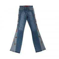 Calça Jeans Country Feminina West Dust Savage Boot Cut