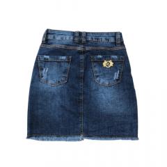 Saia Country Jeans Feminina Pollice Office  Azul Cod: 001204
