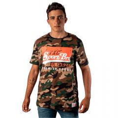 Camiseta Country Masculina TXC Verde Camuflado
