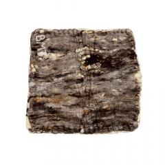 Baixeiro de Lã Batida Artesanal