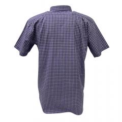 Camisa Masculina Ox Horns Roxo Xadrez Manga Curta  Ref: 9242