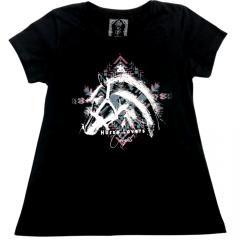 Camiseta Country Feminina 2K Jeans Cavalo Preta