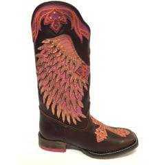 Bota Texana Goyazes Feminina Mustang Café
