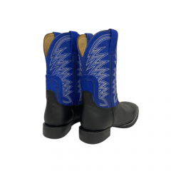 Bota Texana Masculina Goyazes - Preto/Azul Ref: 211502-CF