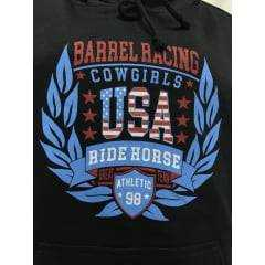 Moletom Feminino Ride Horse Preto