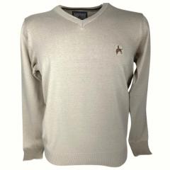 Blusa Suéter Masculino La Jineteada Bege Ref: 768