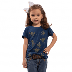 Camiseta T Shirt Infantil Miss Country Azul Ref.: 0727