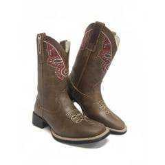 Bota Texana Feminina Big Bull Fóssil Tabaco - 900