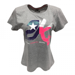 Camiseta Country Feminina 2K Jeans Cinza