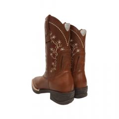 Bota Texana Feminina Big Bull Boots Brasa Bordada