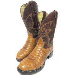 Bota Texana Country Masculina Goyazes Escamada Fóssil