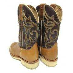 Bota Texana Masculina Goyazes Bico Redondo Canela