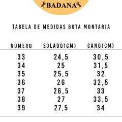 Bota Montaria Feminina Paula Felícia Nutella