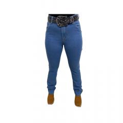 Calça Jeans Feminina Badana Carpinteira Azul - Ref. 9102