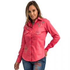 Camisa Água Marinha Feminina Miss Country - Rosa - Ref: 0662