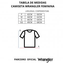 Camiseta Feminina Wrangler Rosa REF WF8034