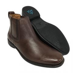 Sapato Botina Masculina Sollu Couro Pinhão