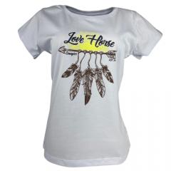 Camiseta Feminina Love Horse Branca