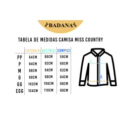 Camisa Feminina Miss Country Just Be - Preta