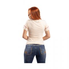 Camiseta Feminina Miss Country Faroeste Bege Ref.: 0715