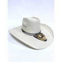 Chapéu Country Eldorado Branco Aba 12 - 0004