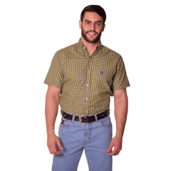 Camisa Masculina Ox Horns Xadrez Amarela Ref:9278