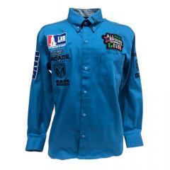 Camisa Country Masculina Radade Bordada LNR Azul
