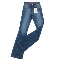 Calça Jeans Country Feminina West Dust Flare Megan Cancun
