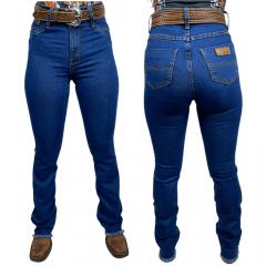 Calça Jeans Feminina Badana Azul Escuro Sky2 Flare Ref:6007