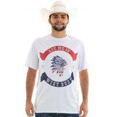 Camiseta Masculina Denver Ask Me In - West Dust - Branco