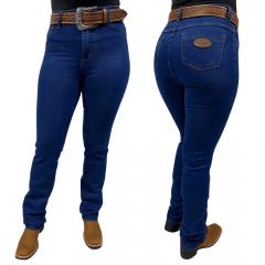 Calça Jeans Feminina Reta Badana 10 -  Navy Blue - Alabama