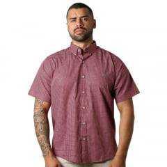 Camisa Masc country TXC Vermelho Xadrez Manga Curta Ref.: 2517C
