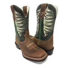 Bota Texana Masculina Texas Boot Bico Quadrado Jatobá/Fóssil Verde - Ref.T09LQBO