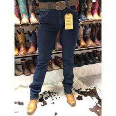 Calça Jeans Country Feminina Estern Wrangler Tradicional Reta Azul Escura - Ref. 18M4C2P