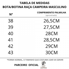 Bota Gaúcha Raça Campeira Amendoa Sola Borracha Ref 8500