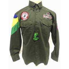 Camisa Masculina Radade Bordada Barreto Verde