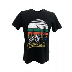 Camiseta Masculina All Terrain Preta com Verde