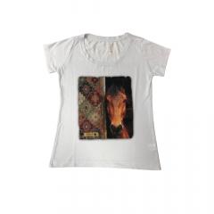 Camiseta Feminina Santa Fé Cavalo Branco