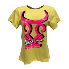 Camiseta Country Feminina 2K Jeans Amarelo
