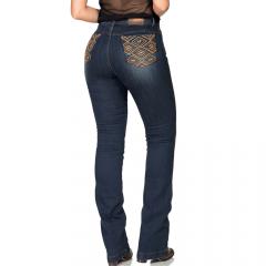 Calça Jeans Flare Feminina Buphallos Bootcut Azul
