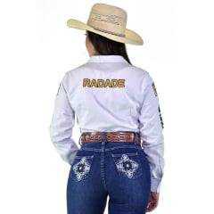 Camisa Radade Feminina Branca Bordada - Ref: CM-CO-FE-RA-0001